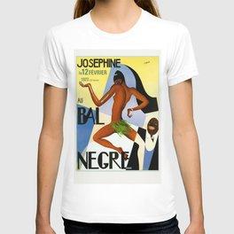 1920's Paris France Josephine Baker Jazz Revue Bal Negre Poster T-shirt