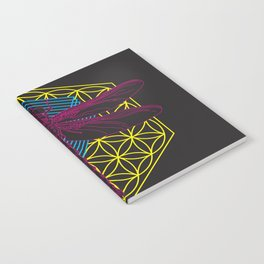Dragonfly Flower of Life Notebook