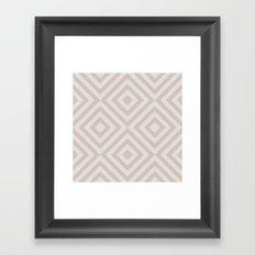 MONO:CHROMA Geometrica Earthy Pink Framed Art Print