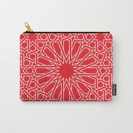 Moroccan Pattern 4 Outline Red Carry-All Pouch