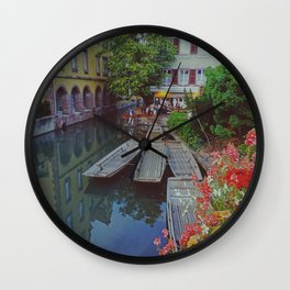 Colmar and its beautiful canals - Fine Arts Travel Photography Wall Clock
