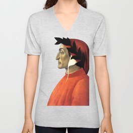 "Sandro Botticelli ""Dante Alighieri"" Unisex V-Neck"