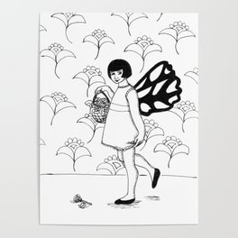 Fairy With Basket Poster