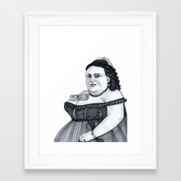 tits Framed Art Prints featuring Tea Tits by Bad Luck