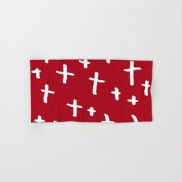 red white cross Hand & Bath Towel