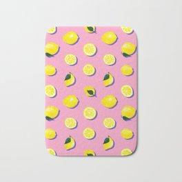 Pink Lemon ~ 80's Pattern Bath Mat