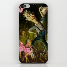 The Demon of Round Cypress iPhone Skin