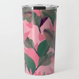 Retro Luxe Lilies Pink Travel Mug
