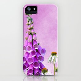 Summer wildflowers on pink iPhone Case