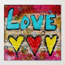 Love X 3 Canvas Print