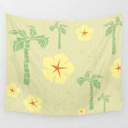 Midcentury Tiki Print Hawaii Retro Vintage Wall Tapestry