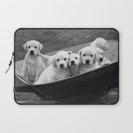Labs Puppies In A Wheelbarrow Laptop Sleeve