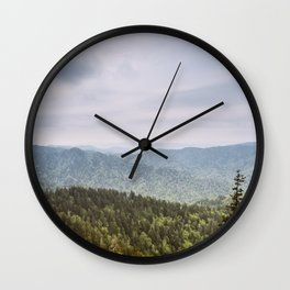 Blue Smoke Mountains Wall Clock