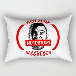 notorious conor mcgregor Rectangular Pillow