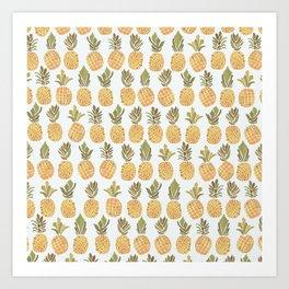 Vintage Pineapple Show Art Print