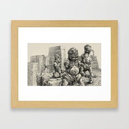Cyanominoids Sipping Microtubules with their Umbilical Mouths, No.3 Framed Art Print