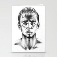 tom hiddleston Stationery Cards featuring Tom Hiddleston 3 by aleksandraylisk