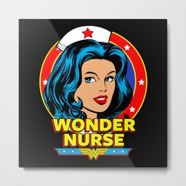 Wonder Nurse Metal Print