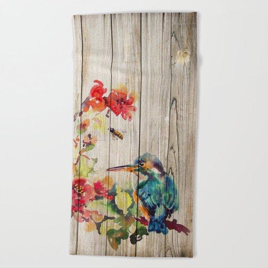 Spring on Wood 04 Beach Towel