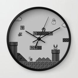 Mario Black & White Wall Clock