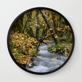 Tillamook In The Fall Wall Clock