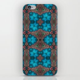 Brown and Blue Kaleidoscope Cells iPhone Skin