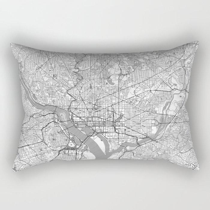 Washington Map Line Rectangular Pillow