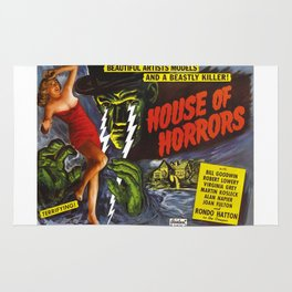 House of Horrors, vintage horror movie poster Rug