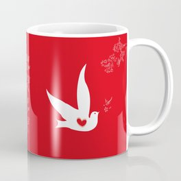 Wings of Love - Red Coffee Mug