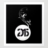 Happy New Year 2015 Art Print