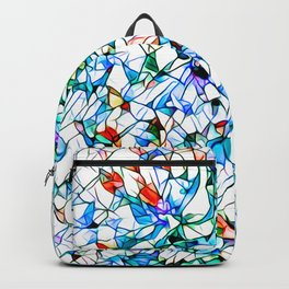 Glass stain mosaic 3 floral - by Brian Vegas Backpack