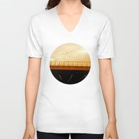 road V-neck T-shirts featuring road by gasponce