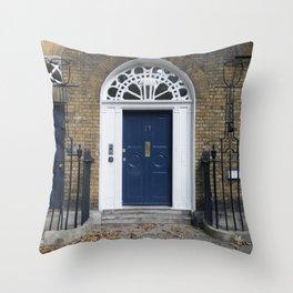 Navy Door Throw Pillow