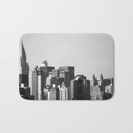 Manhattan skyline Bath Mat