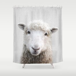 Sheep - Colorful Shower Curtain