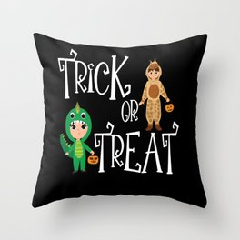 Trick or treat Kids funny Halloween Costume Throw Pillow