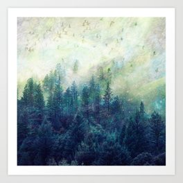 Forest in your fantasies  Art Print