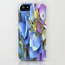 Blue and Pink Hydrangea Flowers  iPhone Case