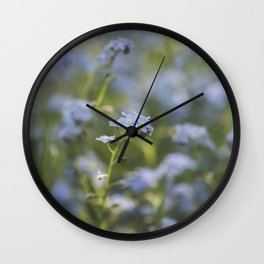 Forget-me-not meadow Spring Flower Flowers Floral Wall Clock