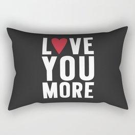 Love You More {dark} Rectangular Pillow