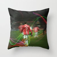 ronaldo Throw Pillows featuring Ronaldo Remix by Shyam13