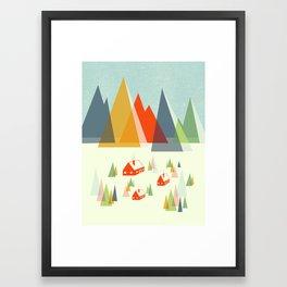 The Foothills Framed Art Print