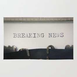 Typewriter macro breaking news Rug