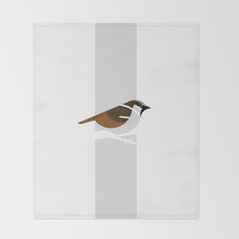 Passer Domesticus 01 Throw Blanket