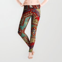Incesu Turkish Village Antique Long Rug Print Leggings