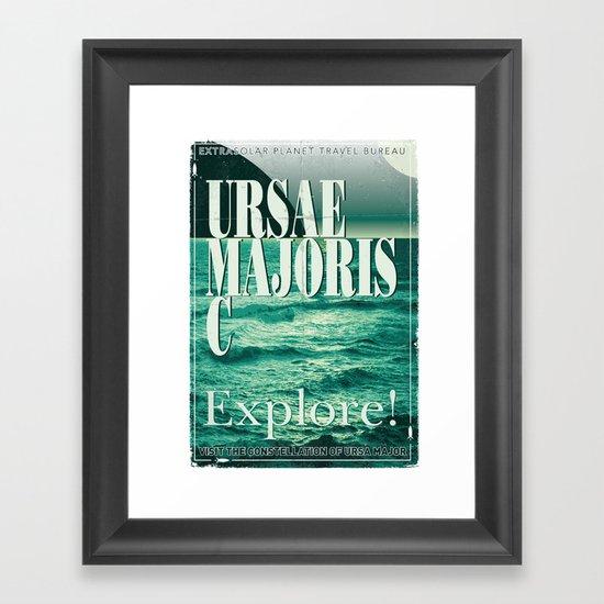 My Exoplanetary Travel Poster: Ursae Majoris C Framed Art Print
