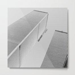 September 11 Tribute - Never Forget - World Trade Center Metal Print