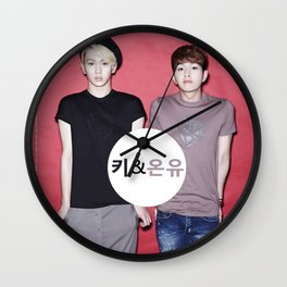 Key and Onew  Wall Clock
