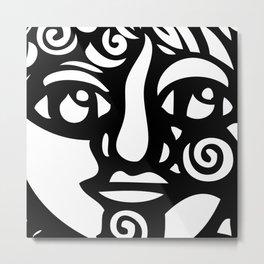 Cara Negra Metal Print
