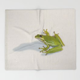 tree frog and his shadow Throw Blanket